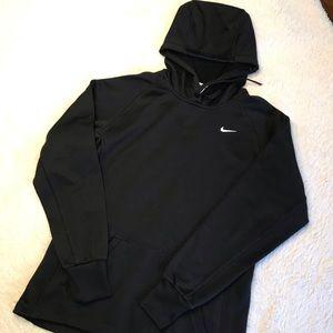 EUC NIKE Therma Fit Black Hoodie Sweatshirt - Sz S